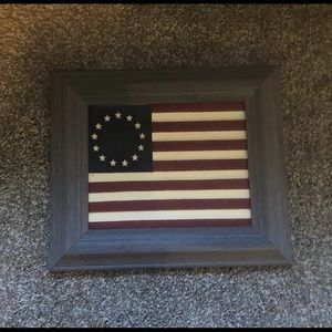 American Flag Leather Wall Hanging